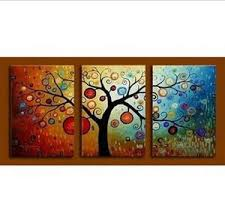 abstract art tree of life painting canvas painting 3 piece wall art  on canvas wall art tree of life with abstract art tree of life painting canvas painting 3 piece wall