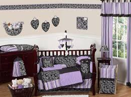 purple and black kaylee girls boutique baby bedding 9 pc crib set