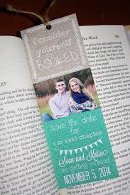 bookmark save the date five wonderfully bookish save the date ideas found on etsy