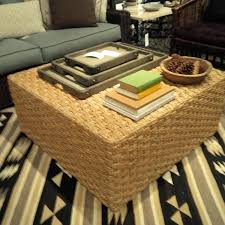 charming home and interior design fascinating woven coffee table ottoman at round best of full size