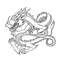 Leuk Voor Kids Kleurplaat Chinese Draak Draken Coloring Pages