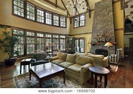 Two Story Great Room With Stunning Fireplace  Dream Homeideas Two Story Fireplace