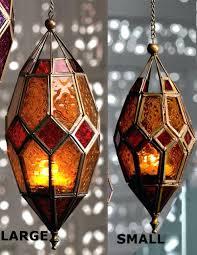 moroccan hanging floor lanterns authentic tonal glass lantern tealight holder large s