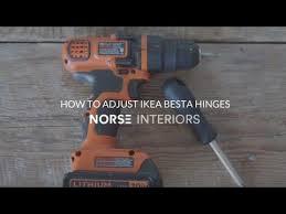 how to adjust ikea besta hinges you