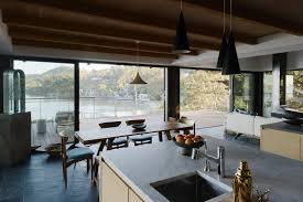 kitchen marble counter pendant lighting and undermount sink the kitchen features japanese ash gubi semi pendant