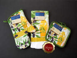 olives oil themed cotton oven mitt microfiber kitchen towel pot holders
