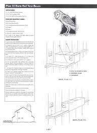 plan page screech owl house plans nest box birdhouse design modern pla building guide western eastern pictures