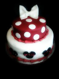 Red White And Black Minnie Mouse 1st Birthday Cake And Smash Cake