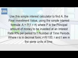 Release Of Interest Form Mesmerizing How Do You Calculate Simple Interest YouTube