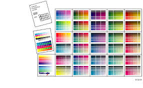 Printing The Color Sampler Charts