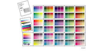 Yellow Cmyk Color Chart Printing The Color Sampler Charts