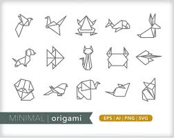 Animal Icon Origami Line Icons Animal Icon Illustrations Eps Ai Png Digital Download For Design Social Media Web Use