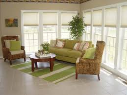 furniture for sunroom. Green Sunroom Furniture Match With Rug For U