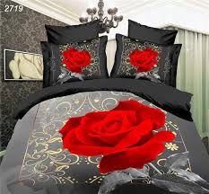 red rose grey black 3d bedding set bed set 3d comforter cover countries bed sheet set family set bedclothes 2719 high quality bed hinge china bed tail