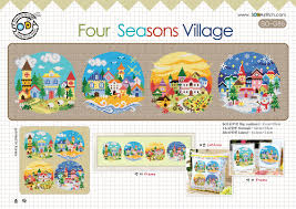 So G85 Four Seasons Village Cross Stitch Chart