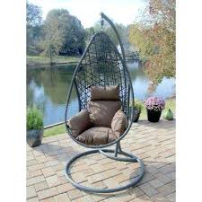 garden egg chair cushion various outdoor furniture hanging wicker hide swing with stand reviews outdoor hanging egg chair