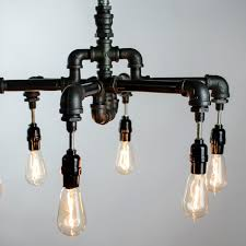 a hand crafted 6 edison bulbs industrial lighting chandelier made to order from chicwatts custommade com