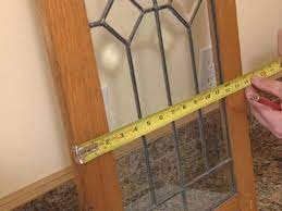 antique leaded glass to cabinet doors