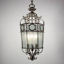 stunning large lantern chandelier large antique art deco six light lantern chandelier with original