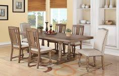 xcalibur wood trestle table w leaf in gray by winners only
