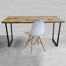 modern reclaimed wood desk home office desk  recycled furniture
