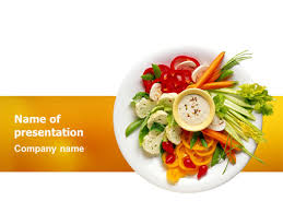 Presentation Foods Vegetarian Food Presentation Template For Powerpoint And