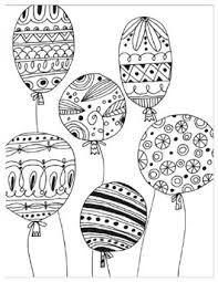 summer coloring pages for s balloons