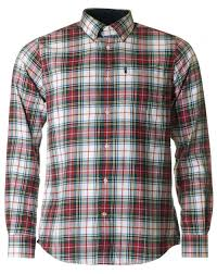 Mens Designer Flannel Barbour Alvin Tailored Flannel Checked Shirt Mens Designer