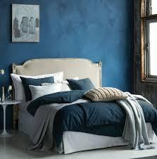 navy blue washed cotton simple aesthetic duvet quilt cover 2pc set twin single 100 cotton