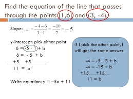 3 find the equation of the line