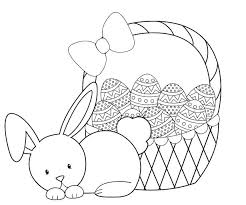 Easter Egg Wreath Coloring Page Craft A Egg Free Coloring Pages For