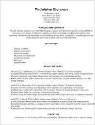 Resume Templates: Interior Designer Resume