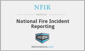 Nfir National Fire Incident Reporting