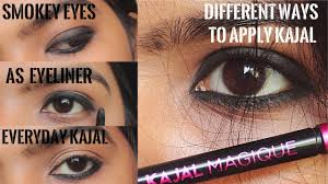 how to apply kajal in diffe ways create smokey eyes eyeliner everyday looks using kajal