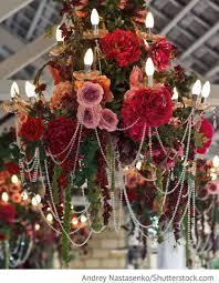 Kronleuchter Mit Blumen Auf Der Hochzeit Für Hochzeit