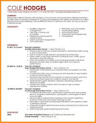cv teaching assistant 5 teaching assistant cv template parts of resume