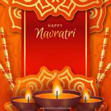 free navratri greeting cards maker