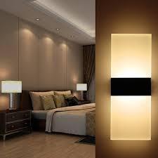 bedside sconce lighting. Modern LED Wall Lamp Acryl+Metal Home Lighting Bedroom/Bedside Sconce Light Living Bedside Y
