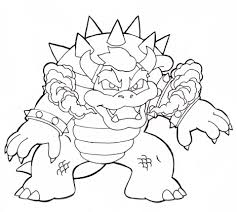 Small Picture Bowser coloring page Free Printable Coloring Pages