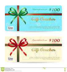 christmas gift card templates christmas gift card or gift voucher template with shiny red and