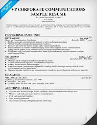 Sample Resume Corporate Communications Manager - Lynxbus