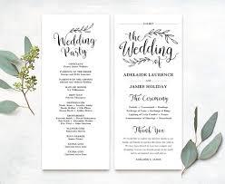 Wedding Booklet Template Wedding Ceremony Booklet Template Lovlyangels Com