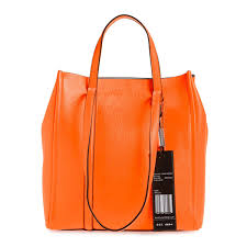 mark jacobs tote bag m0014489 marc jacobs the tag tote 27 bright orange tag