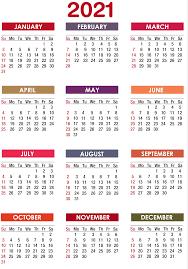 Top 2021 Calendar HD Quality Free Download