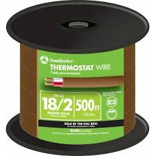 shop thermostat wire at lowes com 4 Wire Thermostat Wiring Color Code 500 ft 18 2 thermostat wire (by the roll)