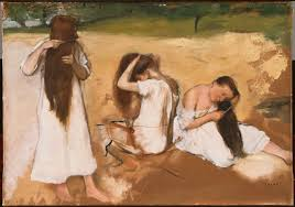 1876 la toilette 1885 the tub 1886 after the bath woman wiping her feet 1886 woman doing her hair 1887 1890 after the bath woman wiping her