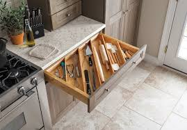 a home depot design specialist can show you how the trays can be customized in any martha stewart living kitchen