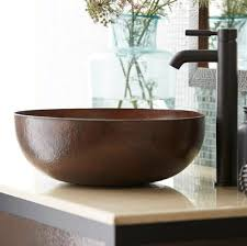 inch maestro round copper vessel sink  native trails