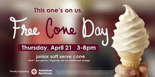 free carvel ice cream cone day 2016