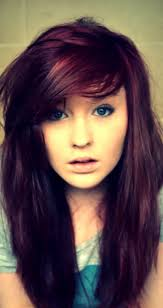 Dark Auburn Purple Hair Color